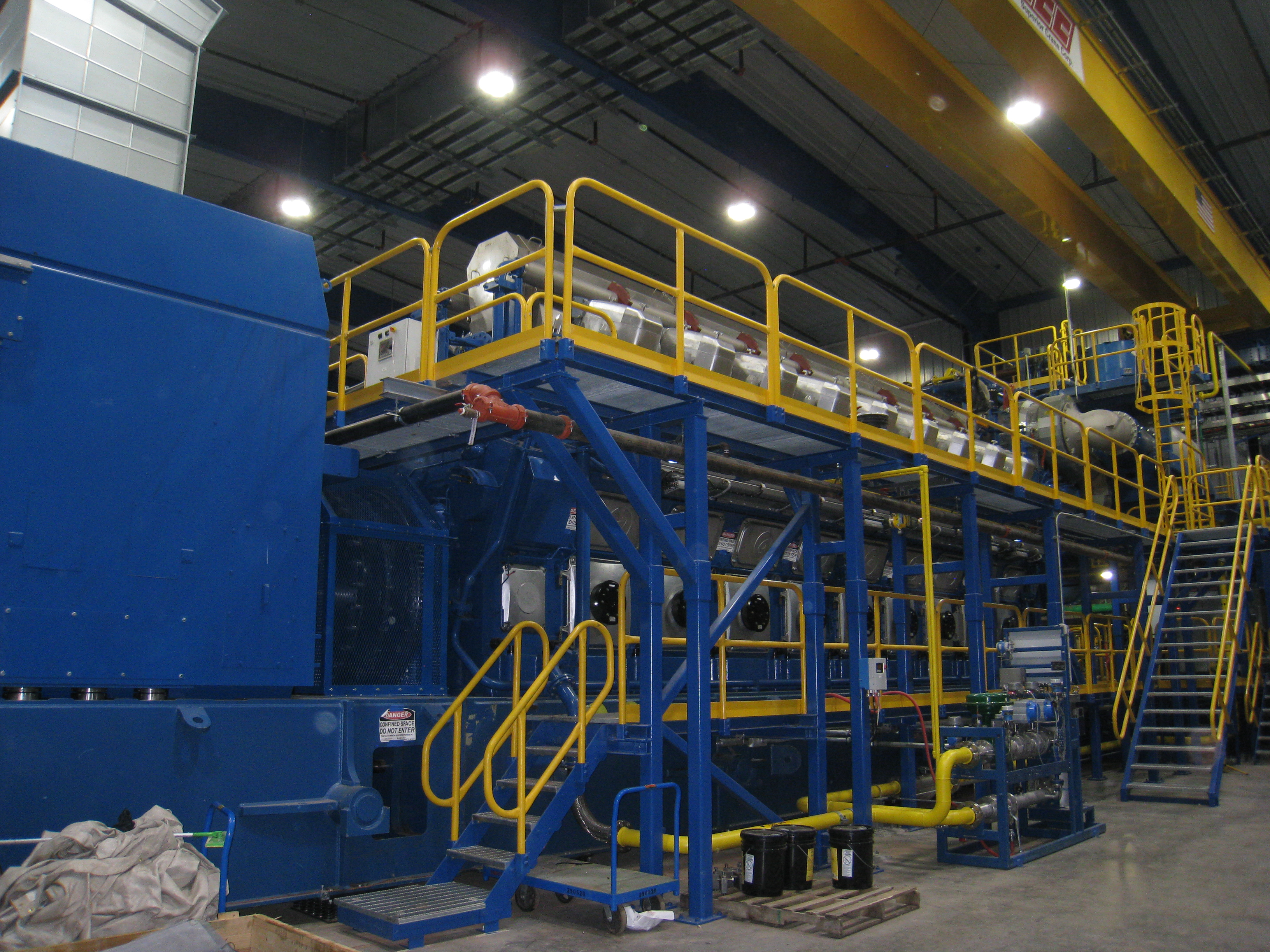 Inside the new plant